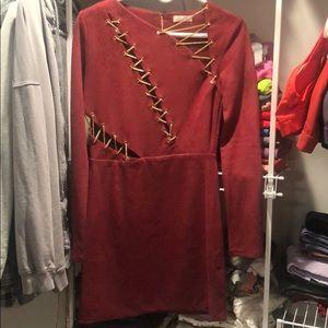 Oh Polly burgundy dress US 8